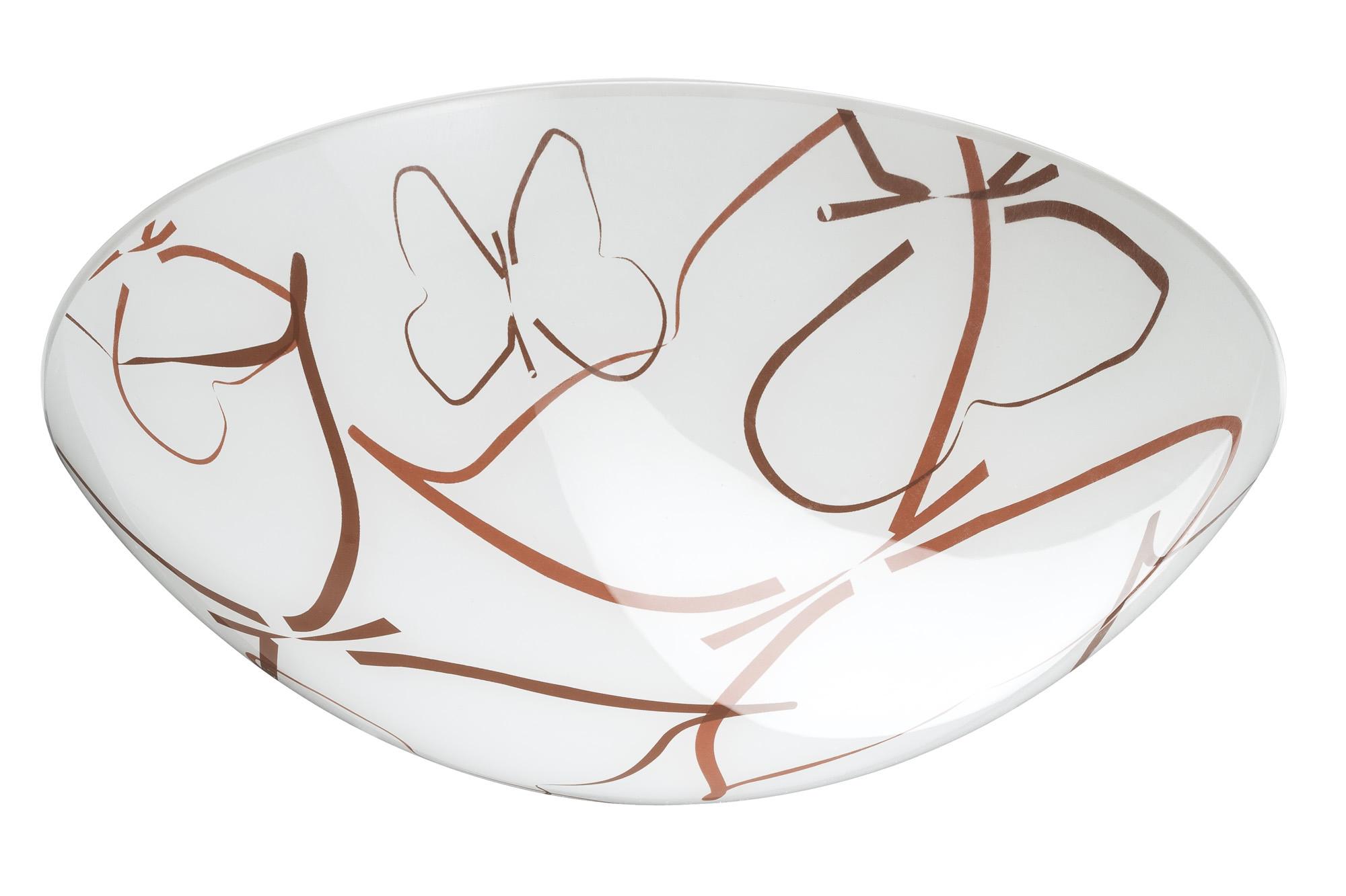Paulmann. 70239 Плафон Circle Butterflies, стекло, 295 мм