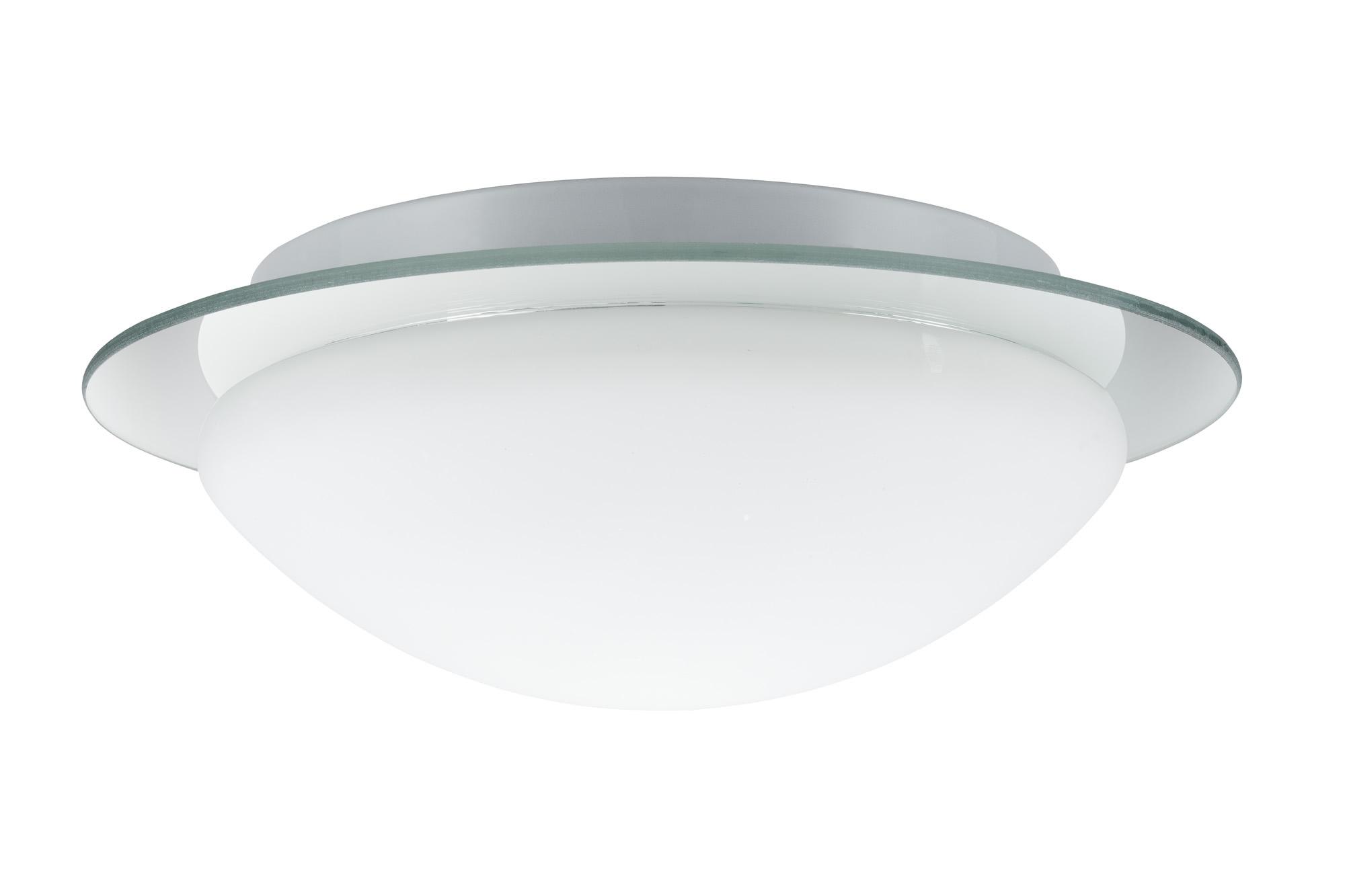 Paulmann. 70348 Светильник настенно-потолочный 1x40W W-D Mirfak 230V E27 Белый/Зеркало/Опал