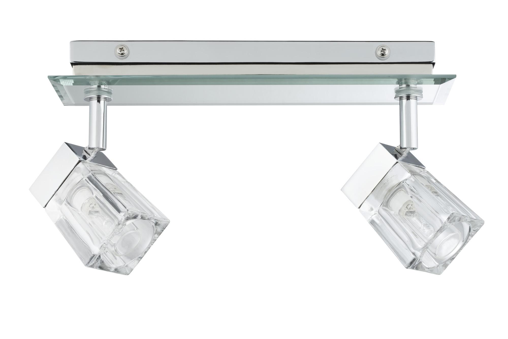 Paulmann. 70356 Светильник настенно-потолочный 2x20W Trabani 230V G9 Хром/Прозрачный