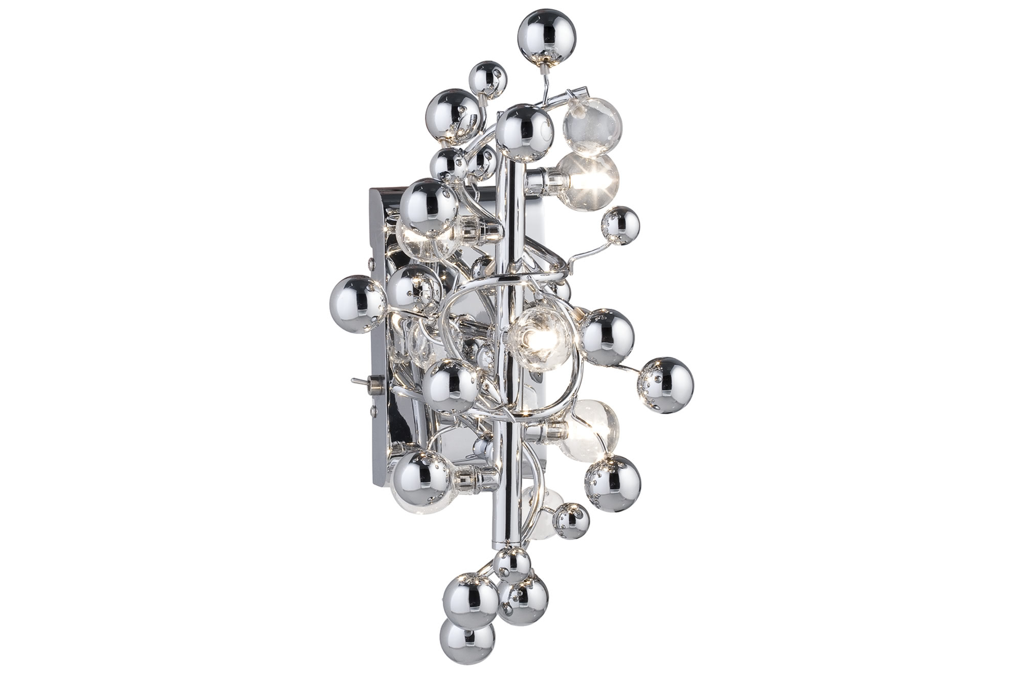 Paulmann. 79489 Cветильник настенный Sfera 5x10W G4 230/12V хром/прозрачный (с вкл+транс 60VA)