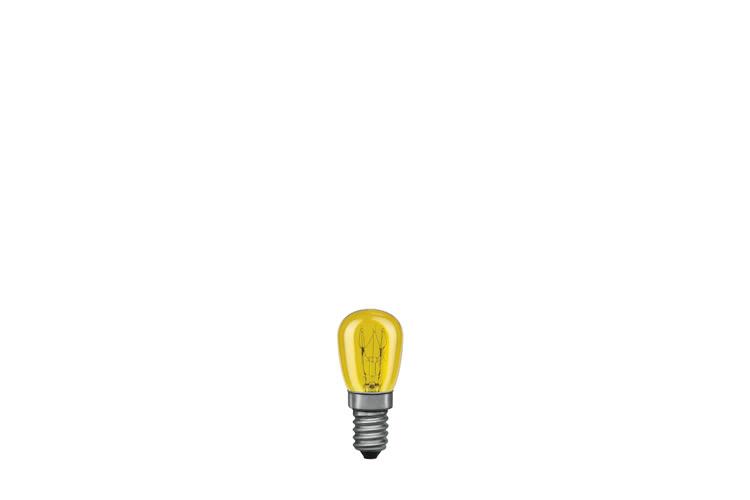 Paulmann. 80012 Лампа накаливания 230V 15W Е14 Груша (D-25mm, H-60mm) желтый