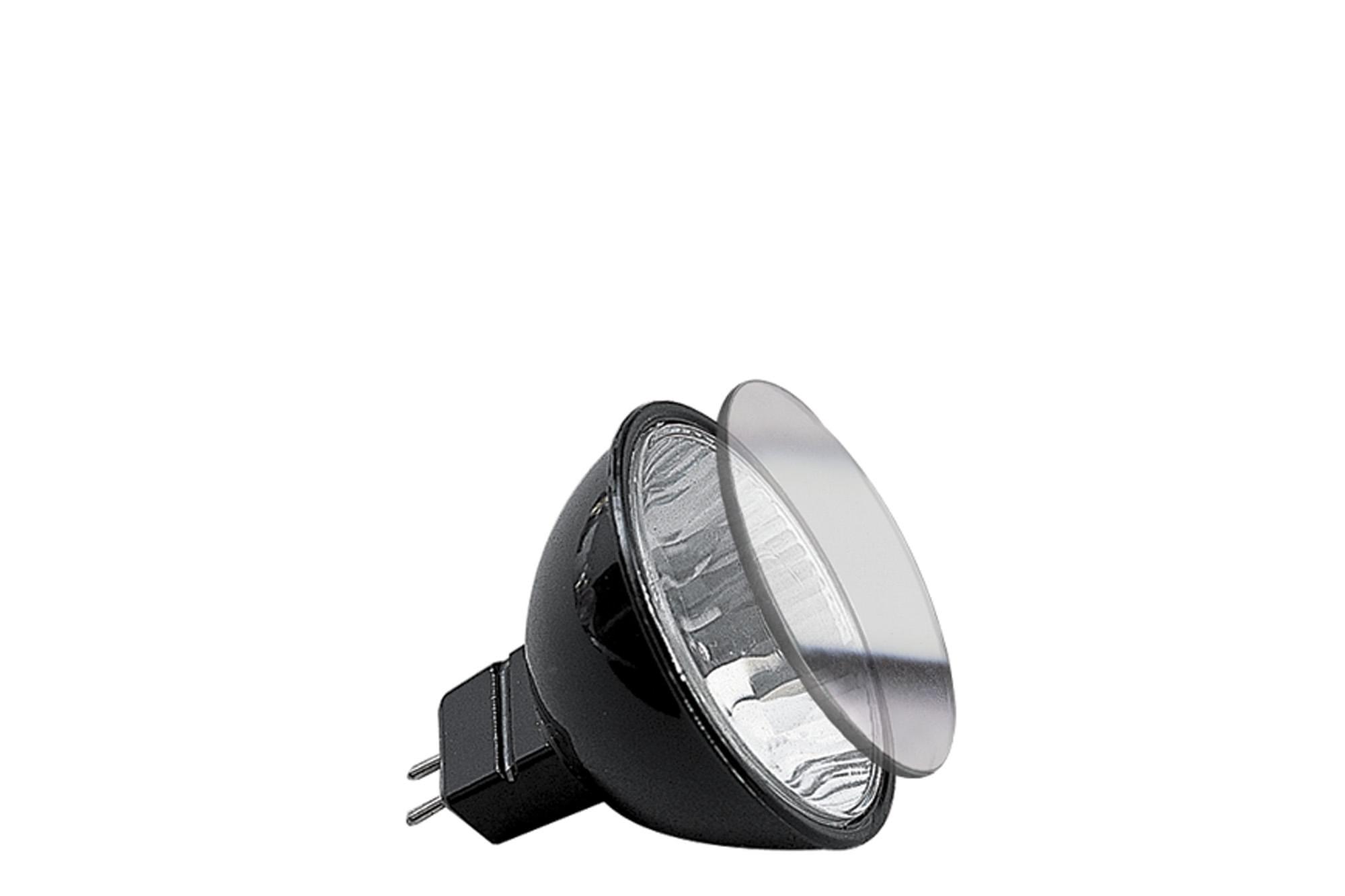 Paulmann. 83224 Гал. Акцент рефлектор. лампа с защ.стеклом черная GU5,3 20W