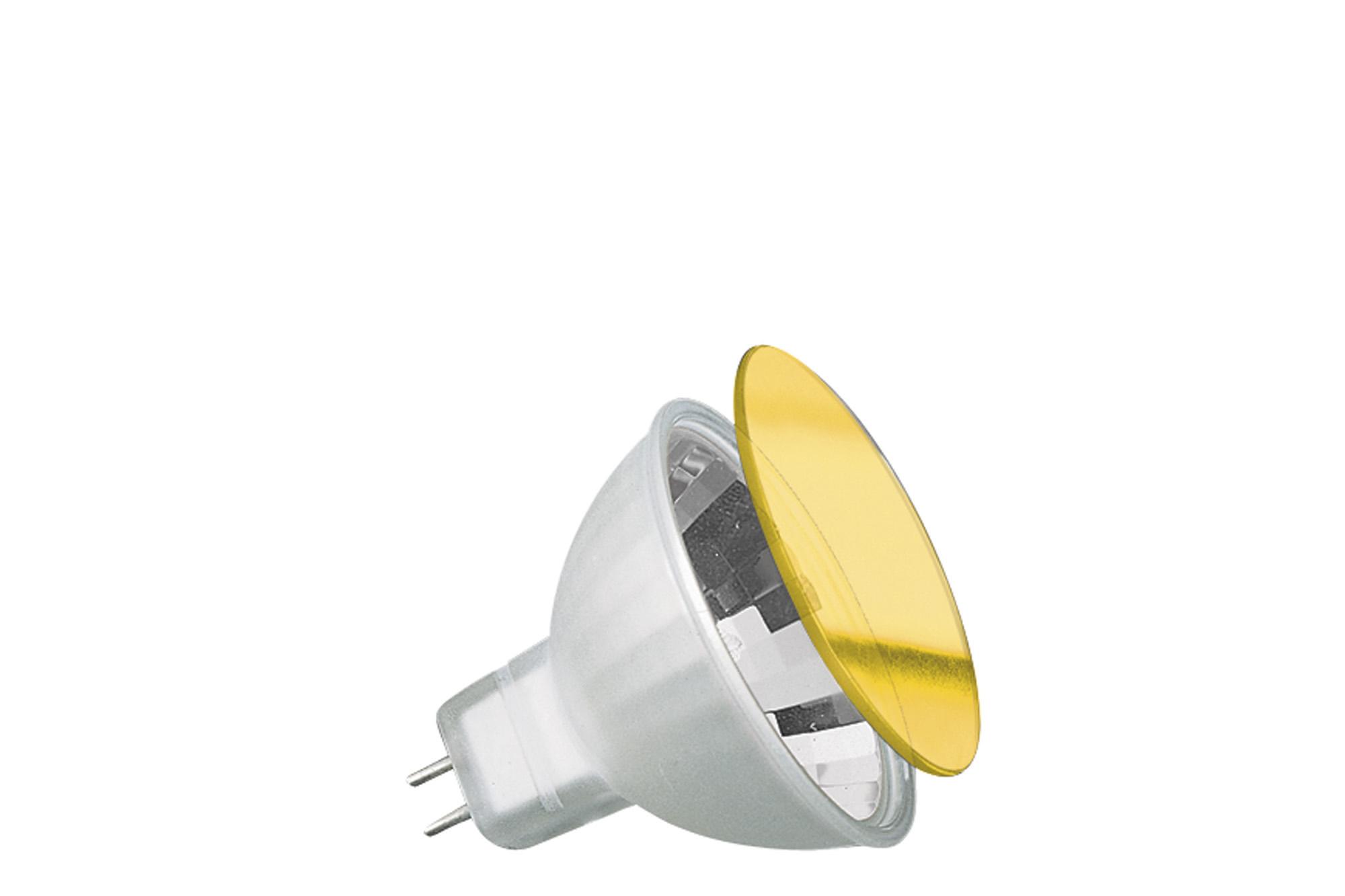 Paulmann. 83342 Гал.зерк.лампа хол.света c защ.стеклом желтая, GU5,3 35W