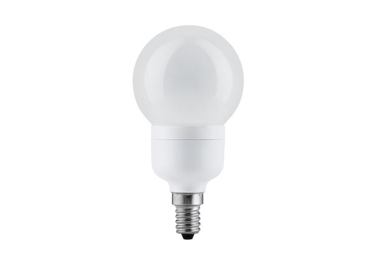 Paulmann. 89307 Экономная лампа Миниглобе электроник, опал, E14, 100мм 7W