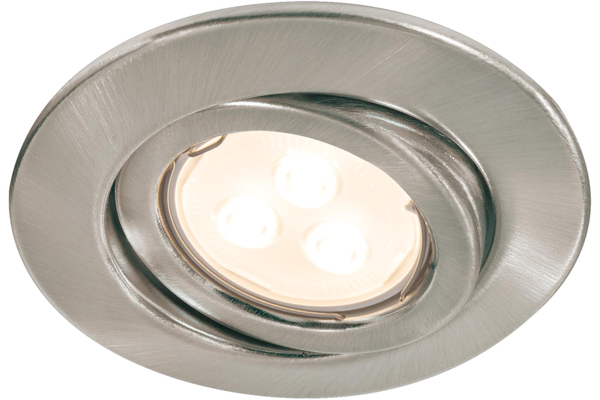 Paulmann. 92026 Quality EBL Set schw LED 3x4W GU10 Eis-g