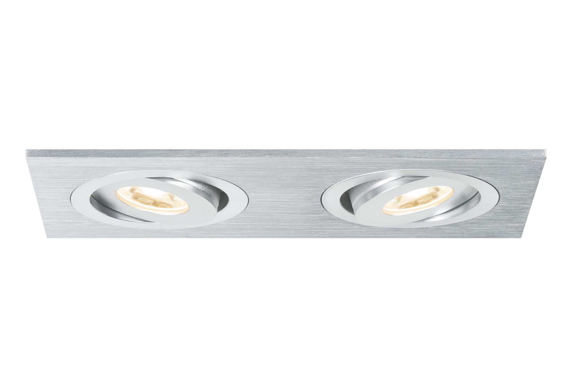 Paulmann. 92537 Светильник Premium EBL Set Drilled AluDouLED schw