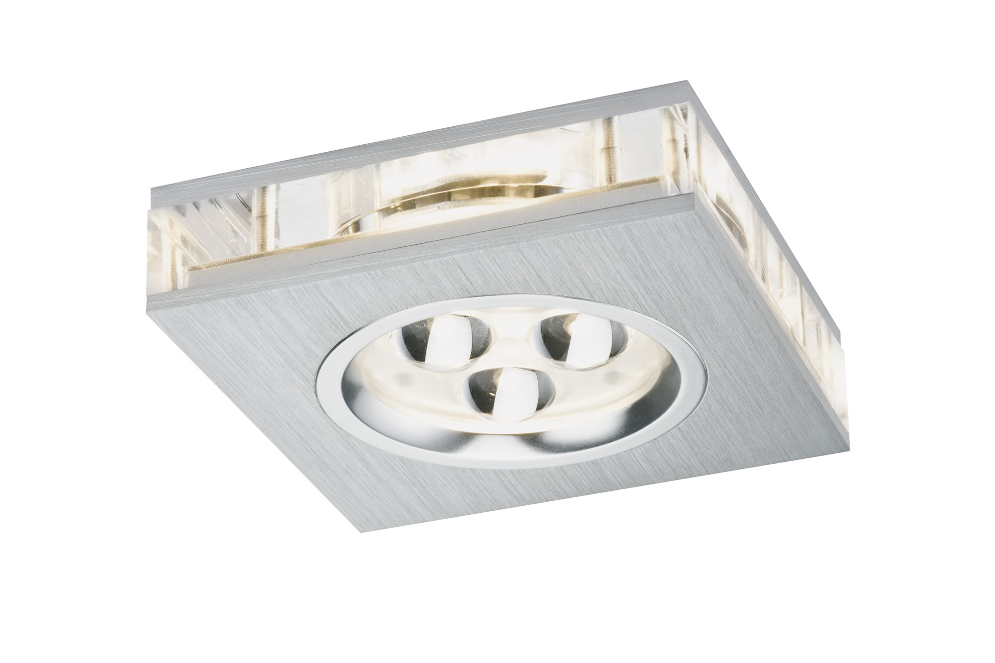 Paulmann. 92538 Светильник встраиваемый Premium EBL Liro eckig LED 1x3W Alu-g