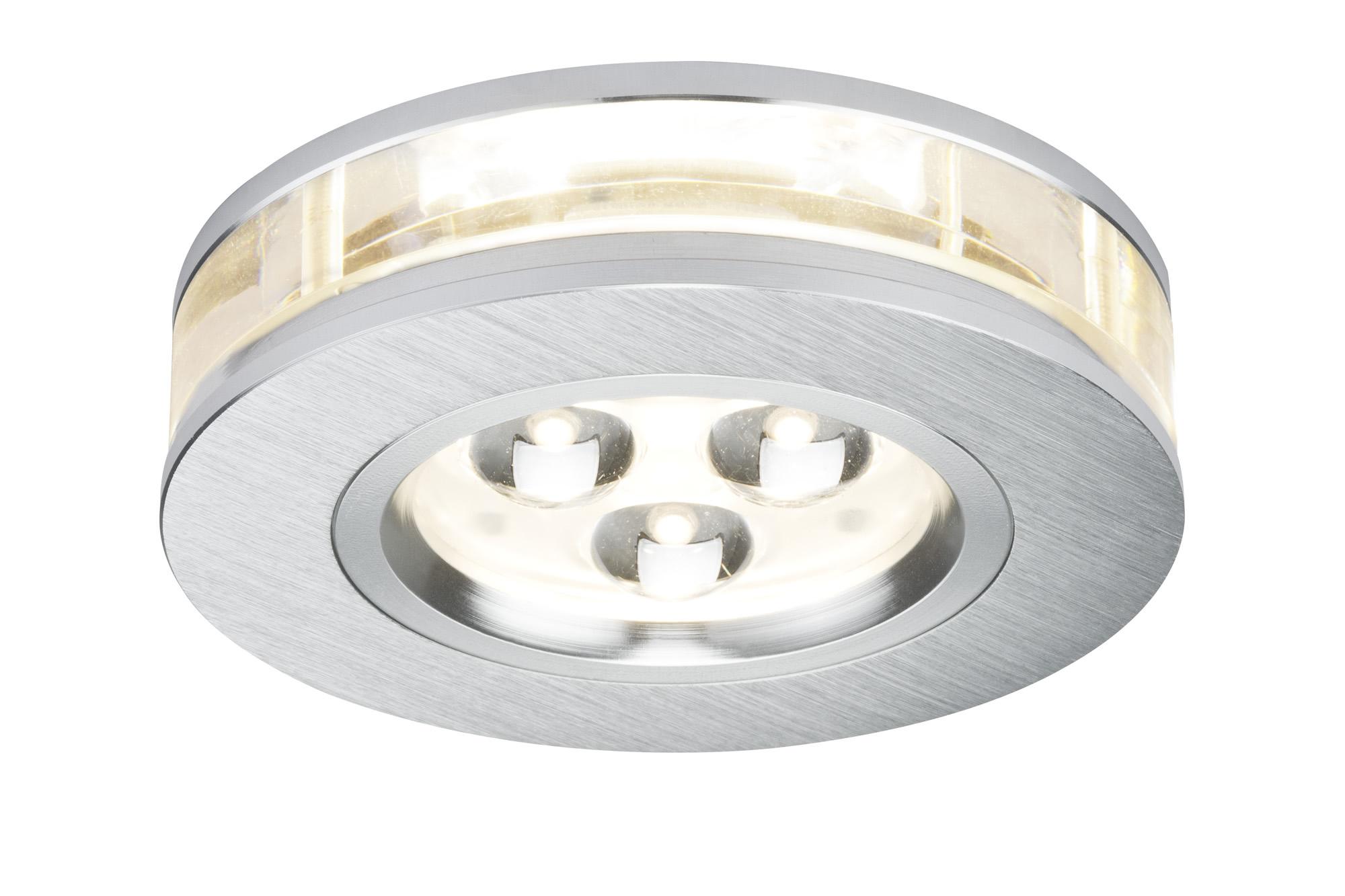 Paulmann. 92541 Набор светильников Liro rund LED 3x3W Alu-g