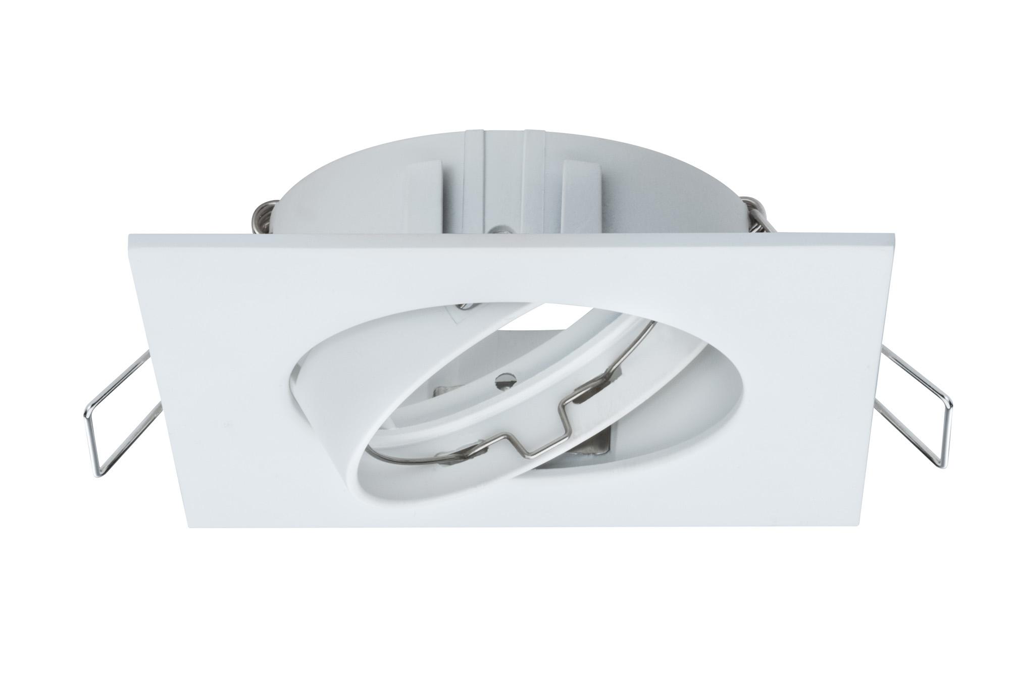 Paulmann. 92591 Светильник встр комплект 3 шт Spot Quadro schw, белый