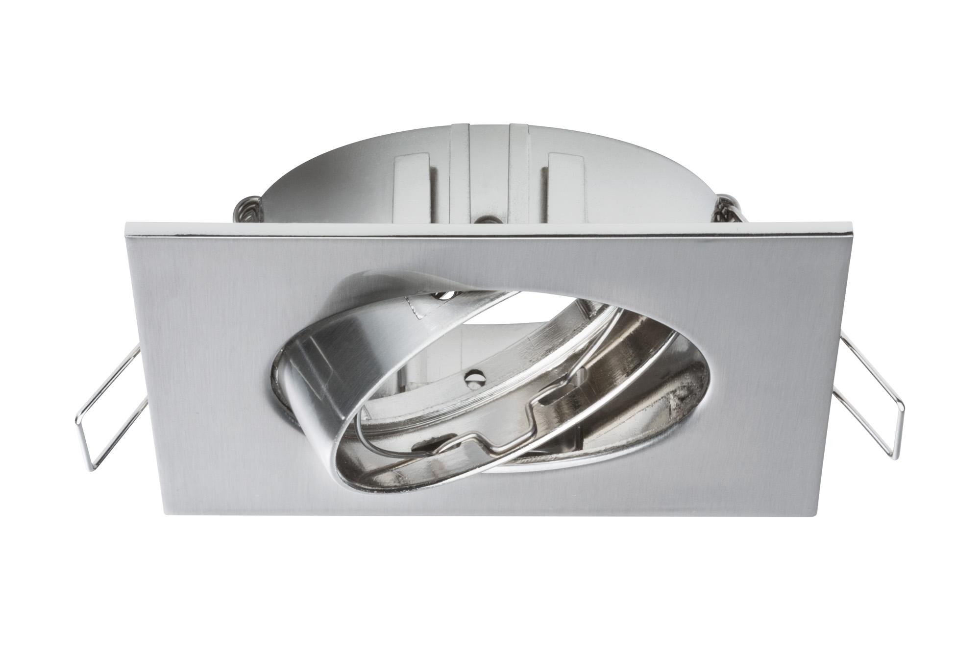 Paulmann. 92592 Светильник встр. комплект 3 шт. Spot Quadro schw, железо шероховатое