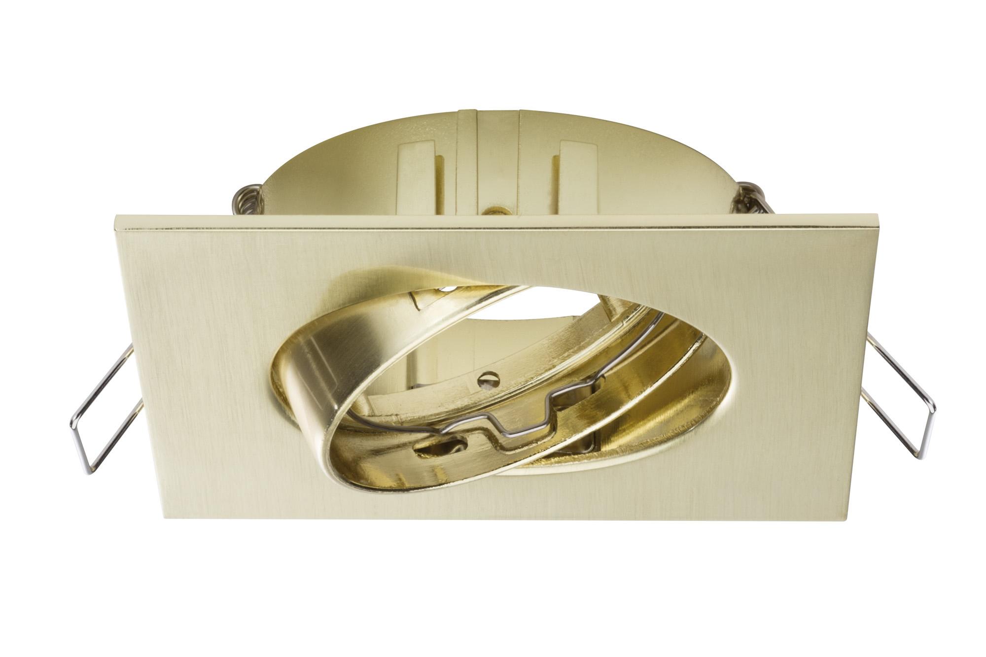 Paulmann. 92616 Комплект светильников Prem EBL 3er Spot Quadro,тертая латунь