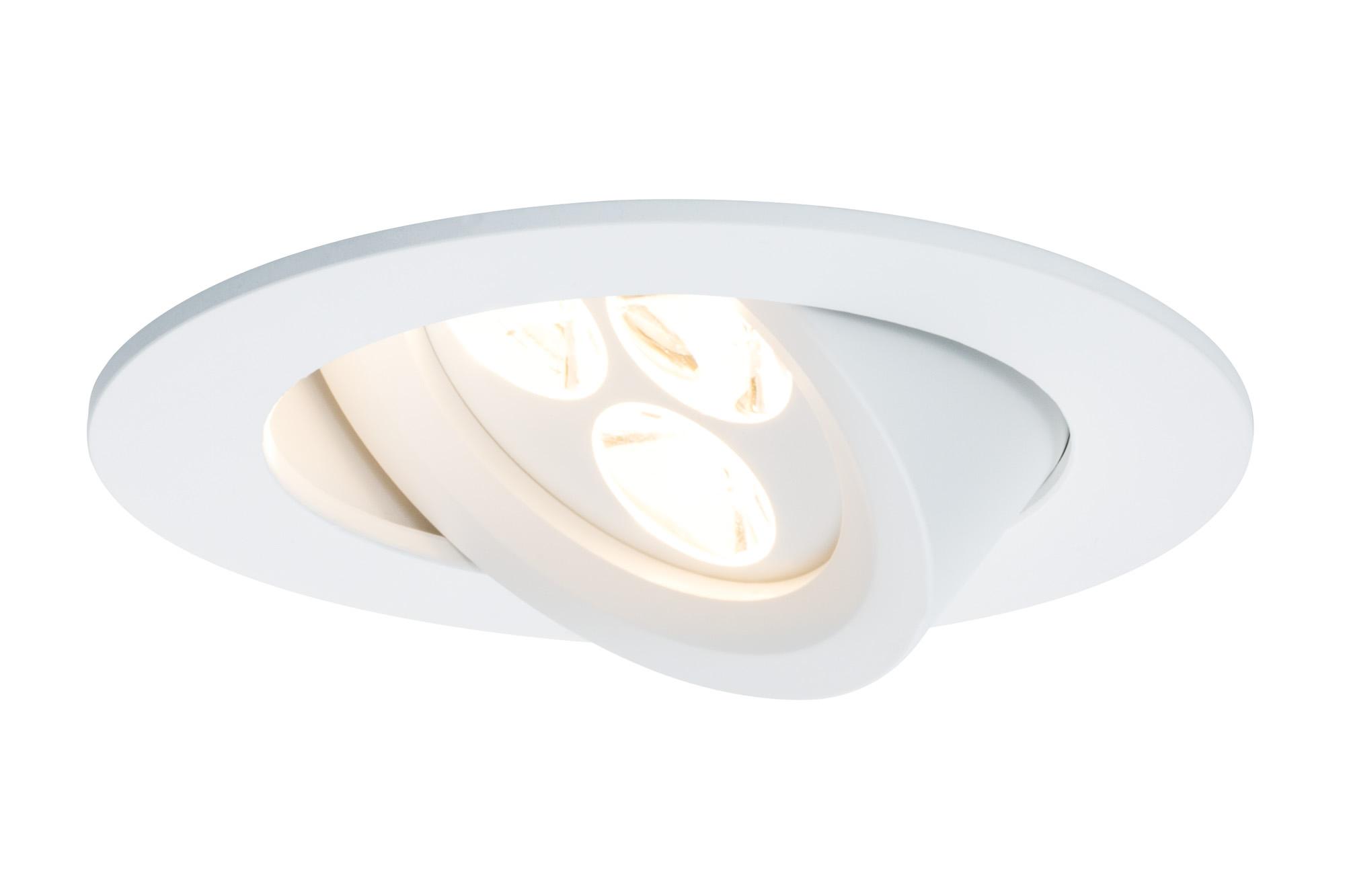 Paulmann. 92689 Комплект встраиваемых светильников Snowy schw LED 3x7,5W, белый матовый