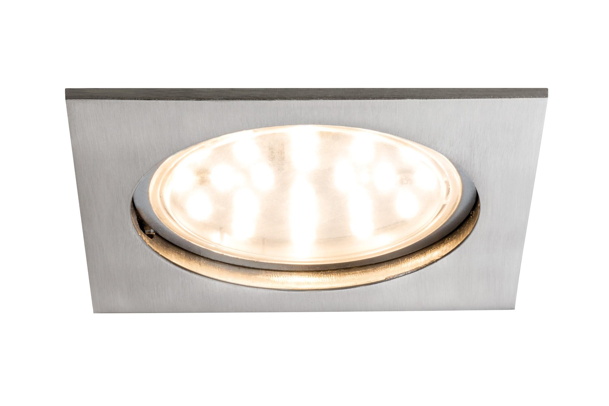 Paulmann. 92784 Светильник EBL Set Coin LED 1x12W eckig Eis-g 75mm