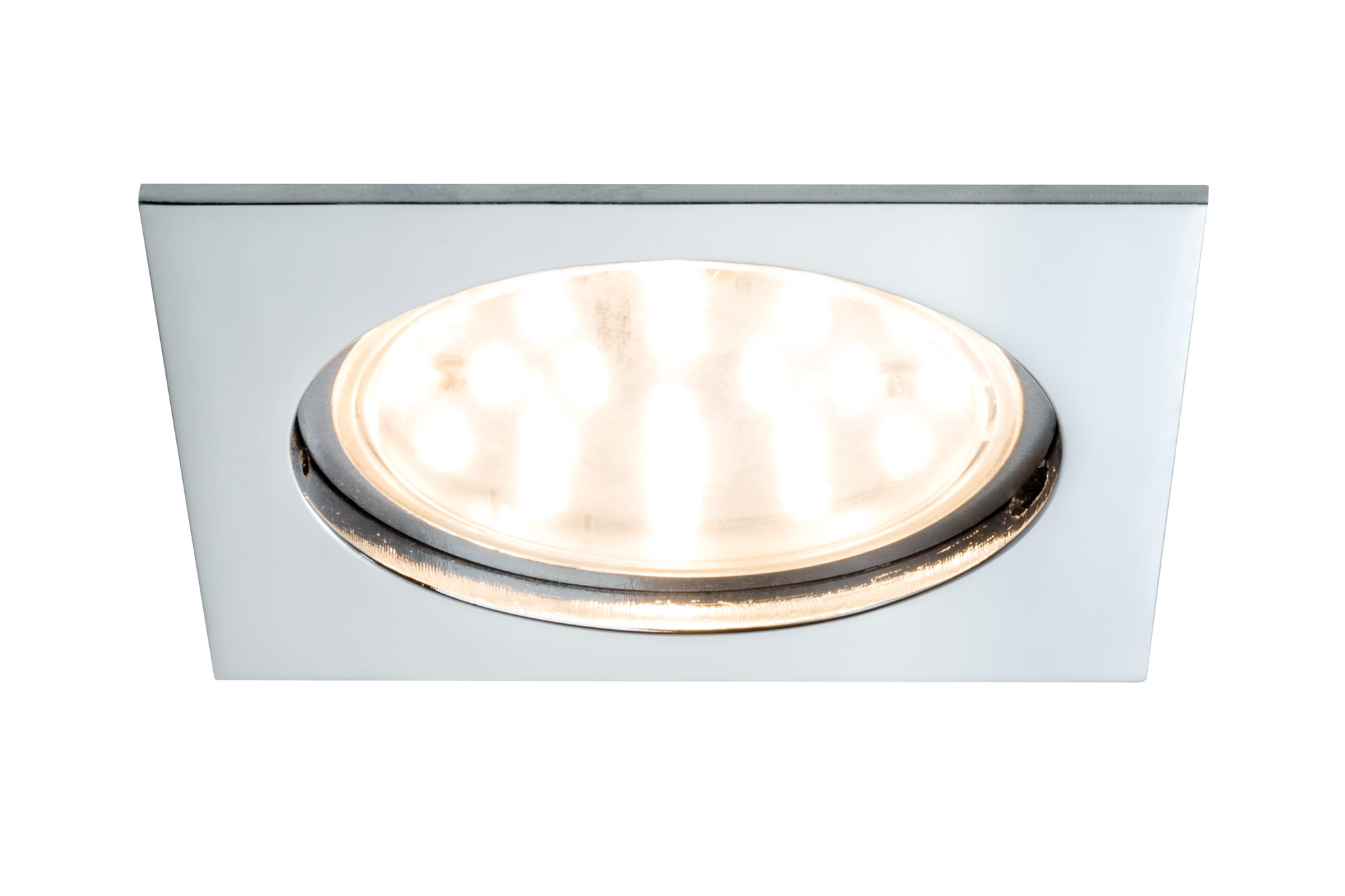Paulmann. 92785 Светильник EBL Set Coin LED 1x12W eckig chrom 75mm