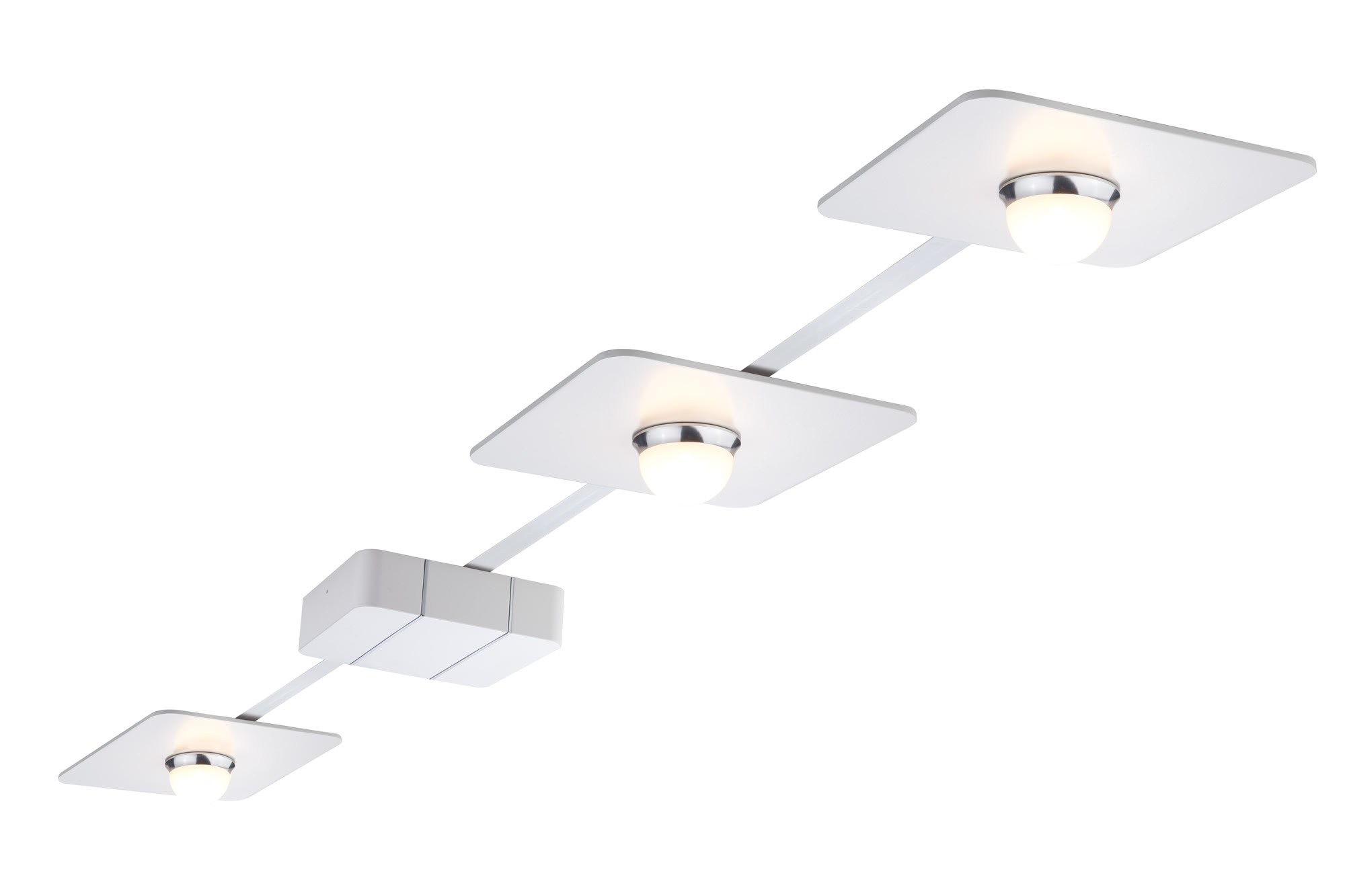 Paulmann. 95074 Комплект светильников PadLED System Set 3x10W 6m, белый/хром