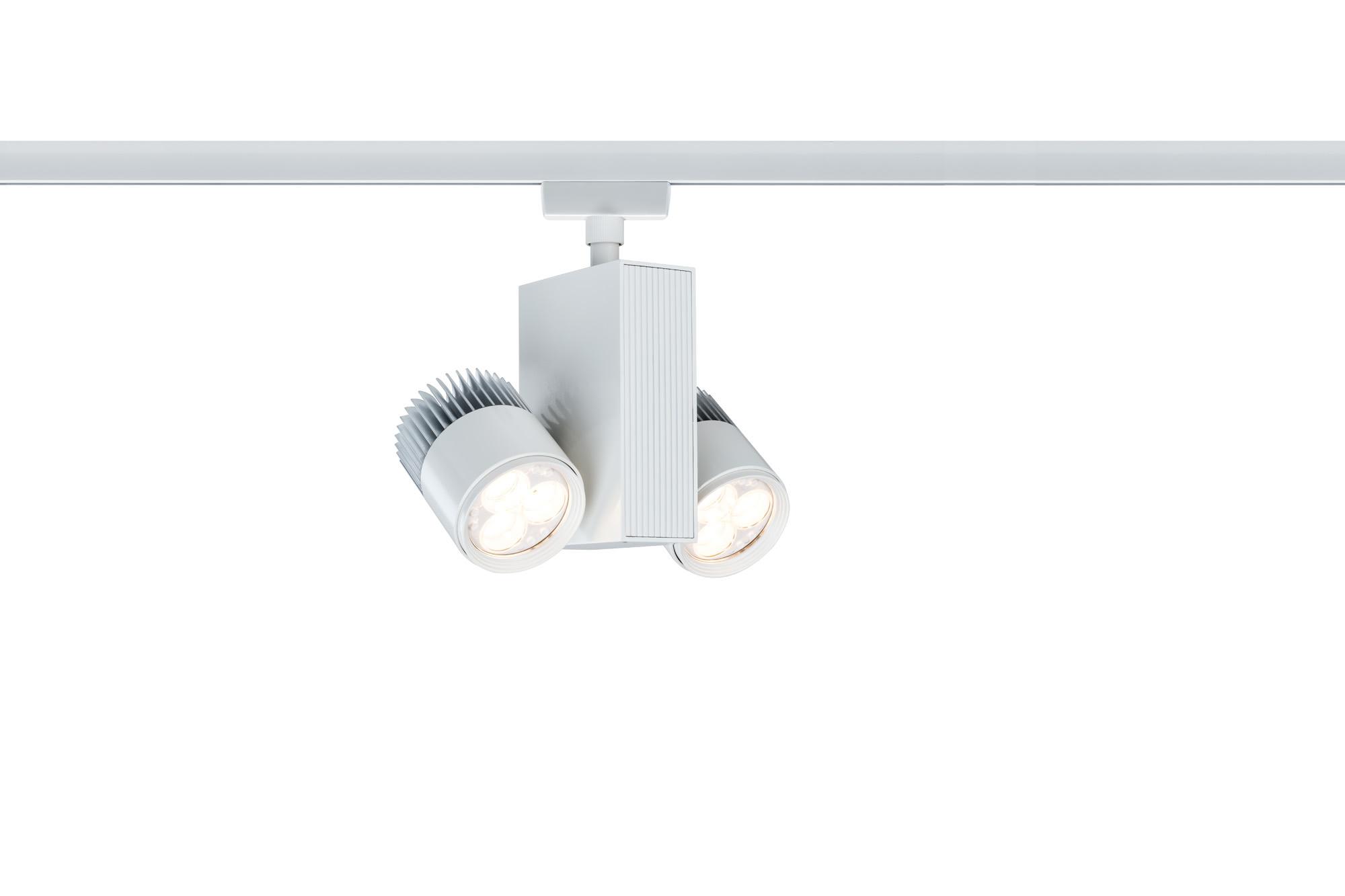 Paulmann. 95164 Св-к URail L&E Spot TecLED 2x9W, белый