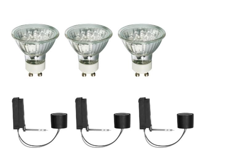 Paulmann. 96529 Комплект лампа + цоколь, LED 3x1W