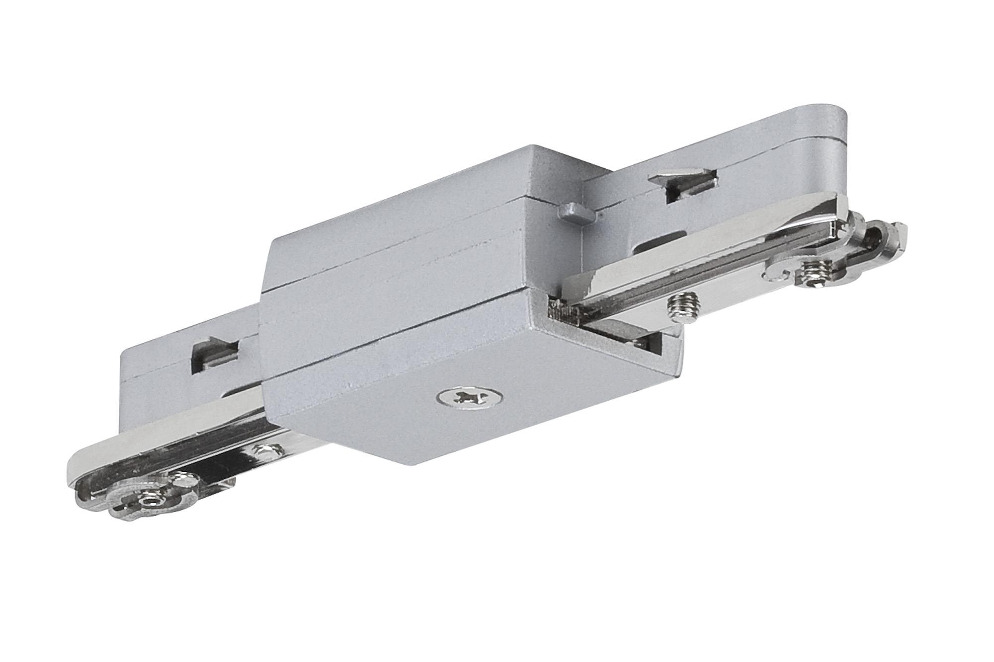 Paulmann. 96832 Линейный соединитель для шинной системы U-RAIL 230V L&E max.1000W 230V, хром матовый